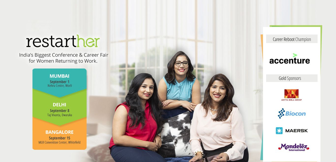 India's Biggest conference and Career Fair for Women Returning to work. RestartHer