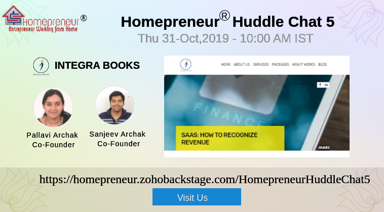 Live Webinar : Homepreneur® Huddle Chat with IntegraBooks