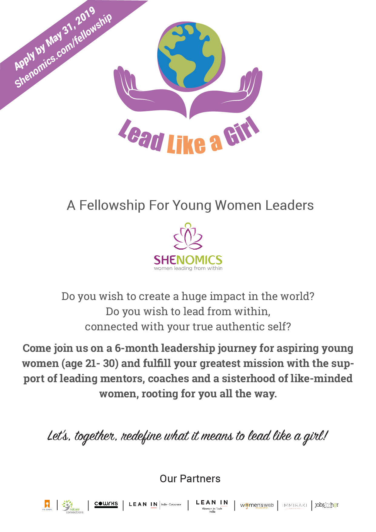 jobsforher-and-shenomics-present-lead-like-a-girl-a-fellowship-program-for-young-women-leaders