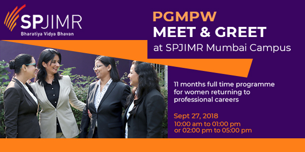PGMPW Meet and Greet at SPJIMR Mumbai Campus