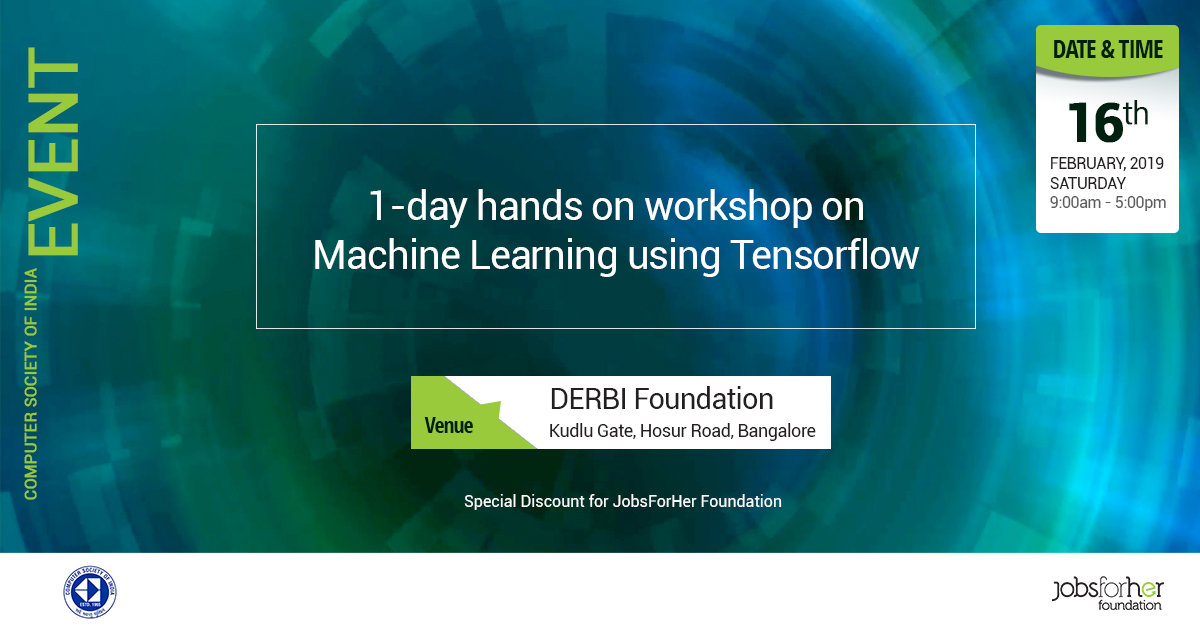 1 Day Hands-On Workshop on Machine Learning using TensorFlow