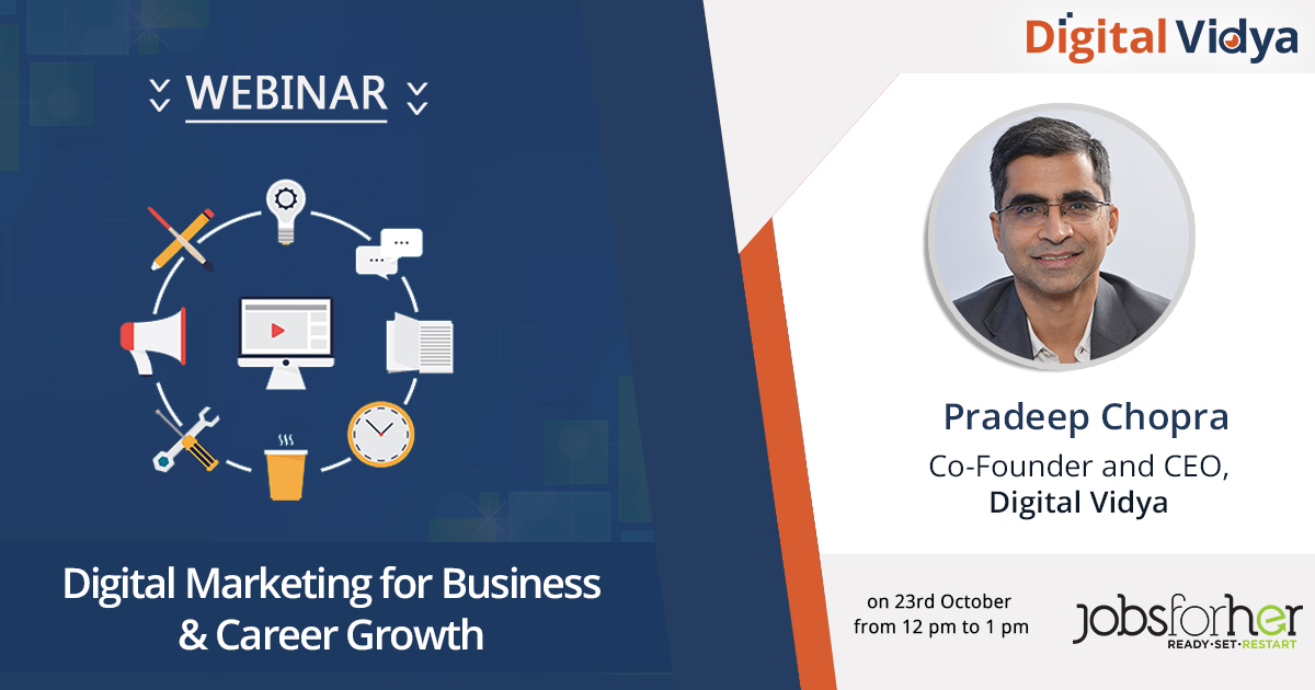 Digital Vidya's Webinar on Digital Marketing for Business & Career Growth