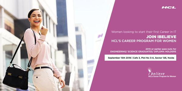 iBelieve – HCL's Career Program for Women