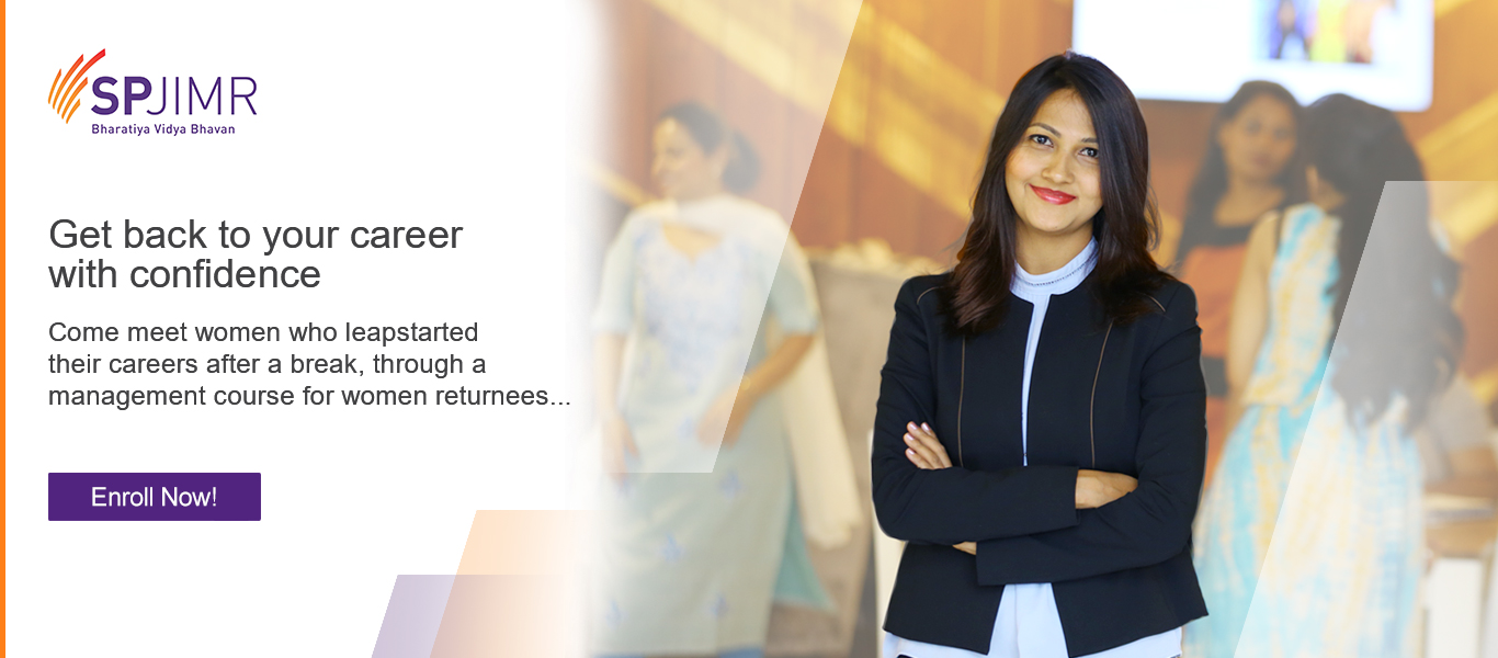 Let SPJIMR Help You Get back to your career with confidence