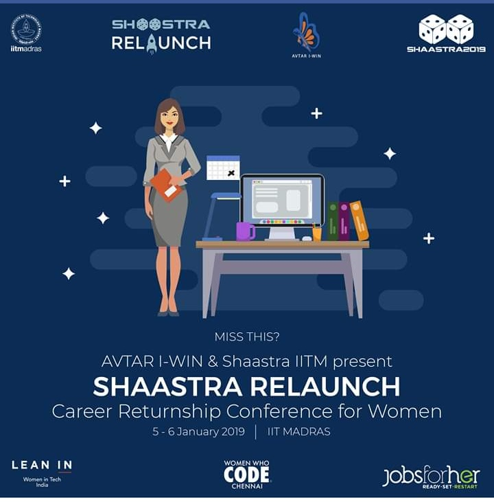 Shaastra Relaunch- A career returnship conference for women