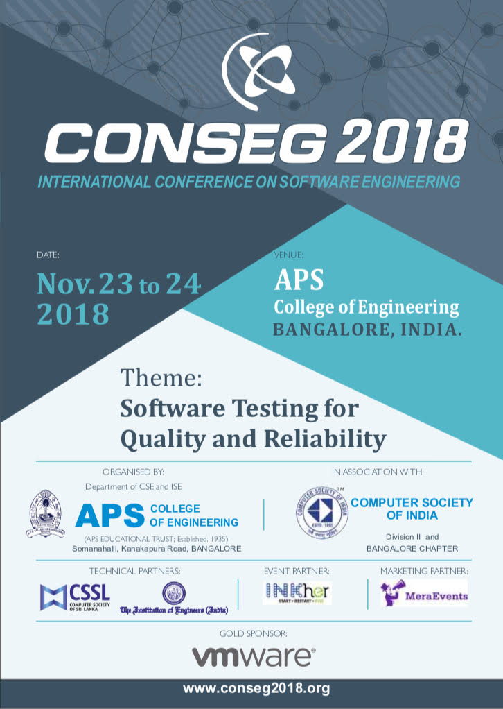 International Conference on Software Engineering - Conseg 2018