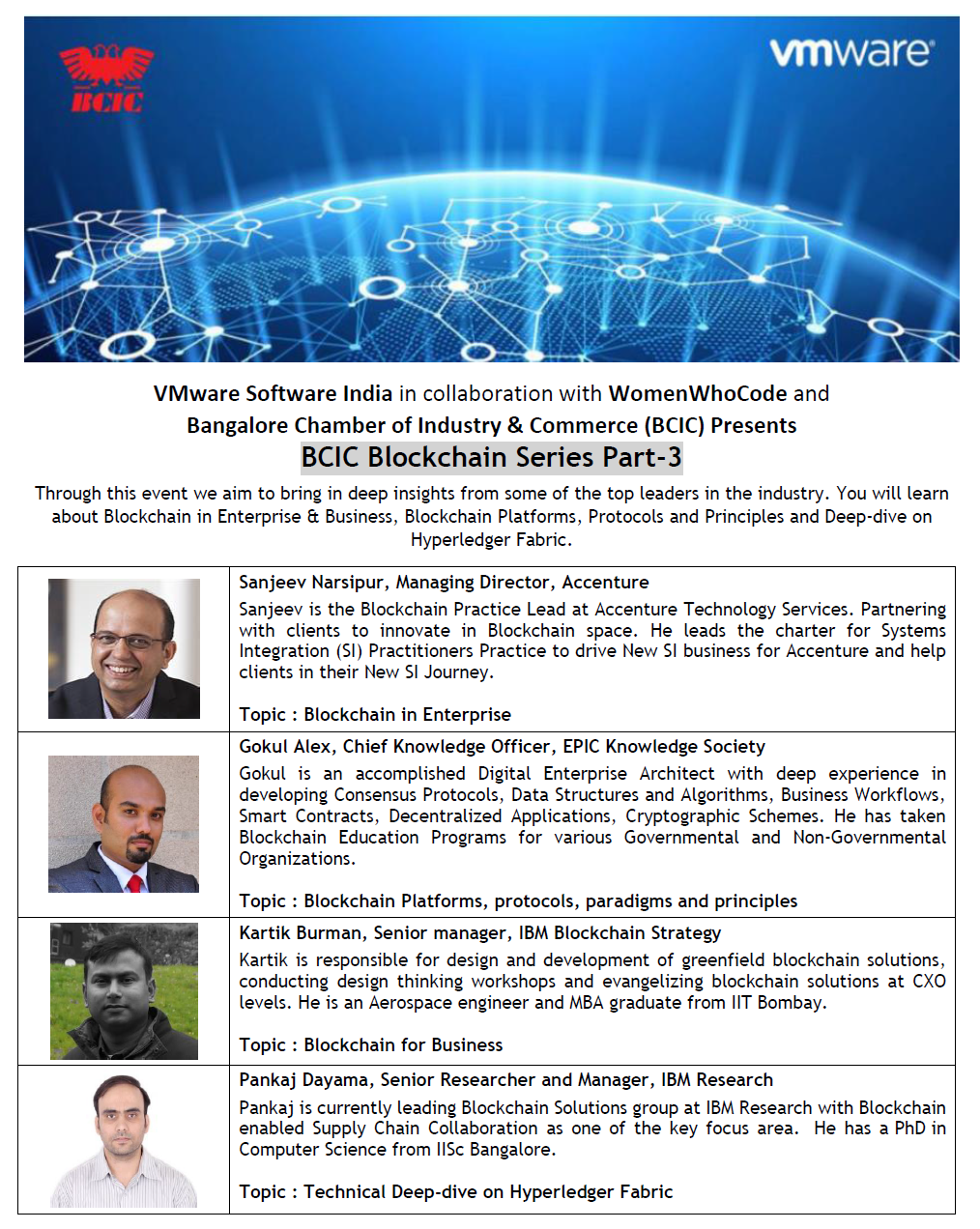 BCIC(Bangalore Chamber of Industries and Commerce) Block Chain Series Part 3