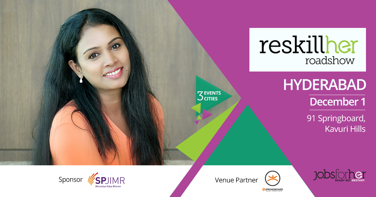 The ReskillHer Roadshow: Hyderabad